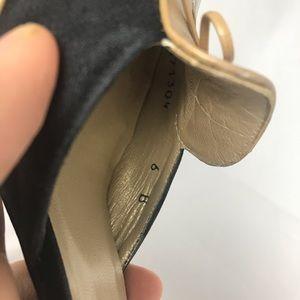 Stuart Weitzman Shoes - Stuart Weitzman Tan Black D'Orsay Heels Size 6
